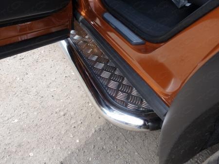 Nissan Murano 2016-Пороги с площадкой 60,3 мм
