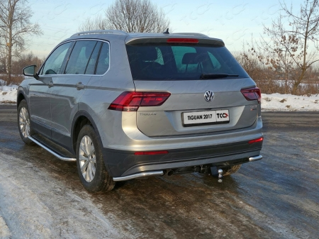 Volkswagen Tiguan 2017- Защита задняя (уголки) 42,4 мм