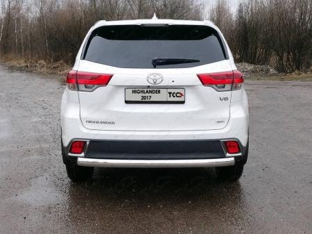 Toyota Highlander 2017-Защита задняя (овальная) 75х42 мм