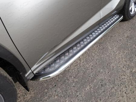 Lexus NX 200 2017-Пороги с площадкой 75х42 мм