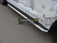Пороги с площадкой (нерж. лист) 60,3 мм Toyota Land Cruiser 200 2012